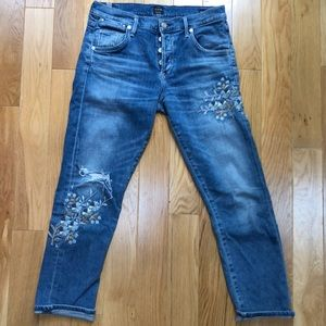 Citizens of Humanity embroidered Emerson jeans